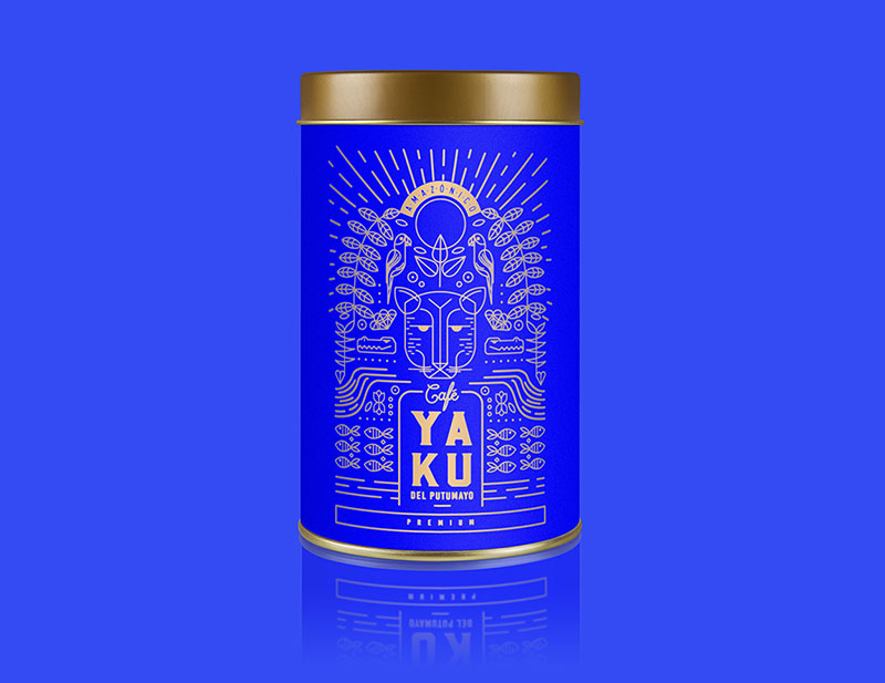 Packaging azul rey yaku