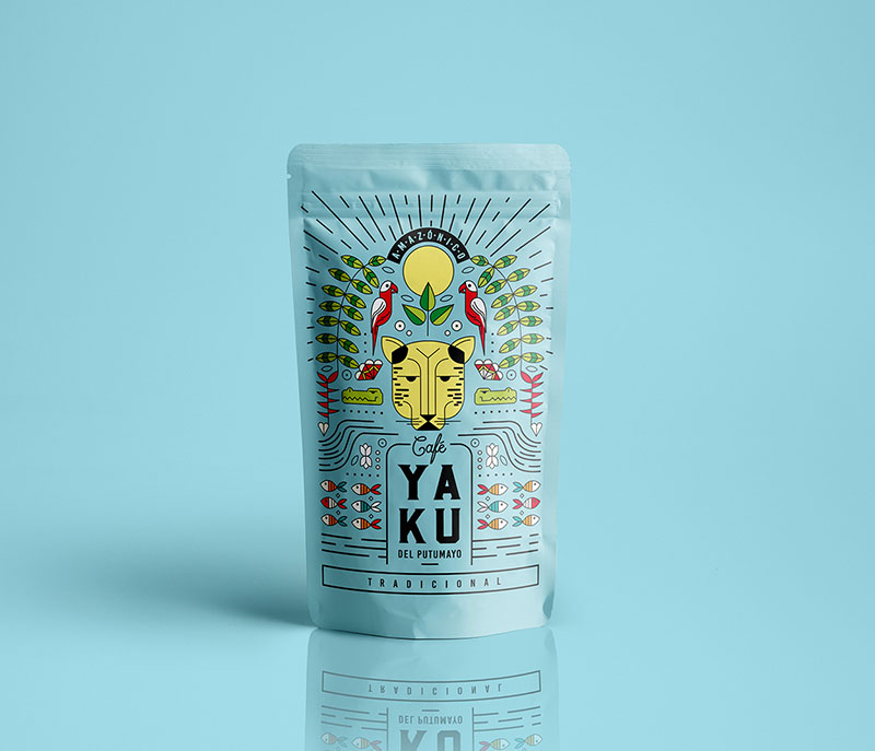 Packaging azul yaku